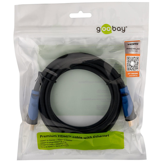 HDMI Goobay Premium High Speed HDMI with Ethernet (2 m) - Autre vue