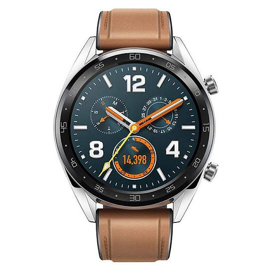 Montre connectée Huawei Watch GT Classic Edition (acier - marron) - GPS - 46 mm