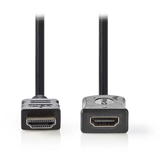 HDMI NEDIS Rallonge HDMI haute vitesse avec Ethernet Noir (2 mètres)