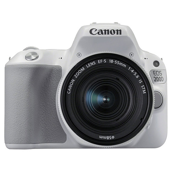 Appareil photo Reflex Canon EOS 200D Blanc + 18-55 IS STM