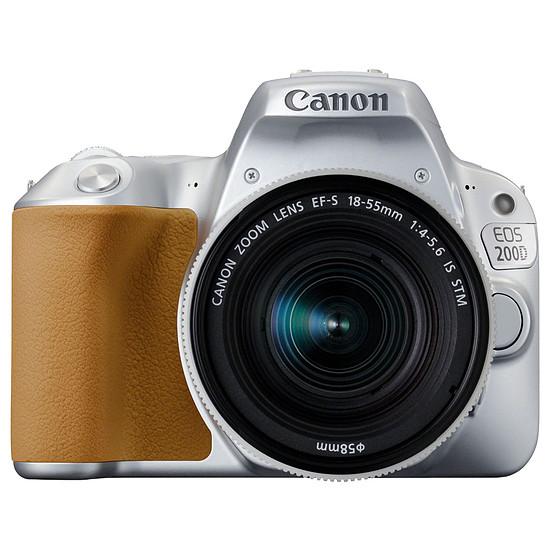 Appareil photo Reflex Canon EOS 200D Argent + 18-55 IS STM