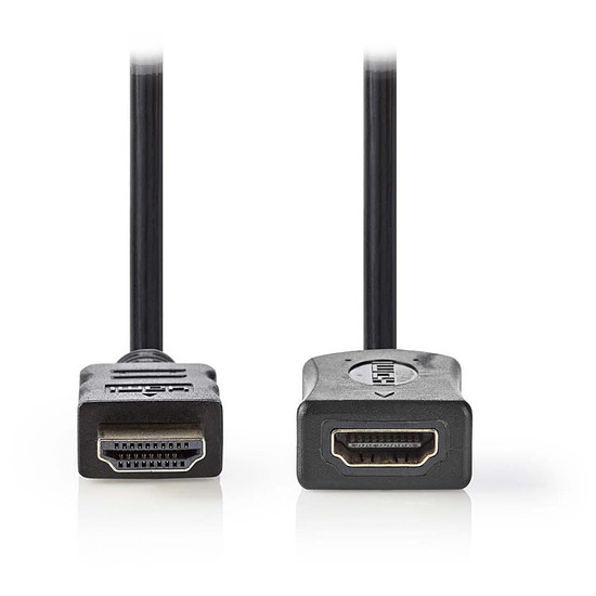 HDMI NEDIS Rallonge HDMI haute vitesse avec Ethernet Noir (3 mètres)
