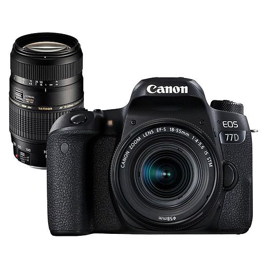Appareil photo Reflex Canon EOS 77D + 18-55 IS STM + Tamron AF 70-300mm F/4-5,6 Di LD MACRO 1:2
