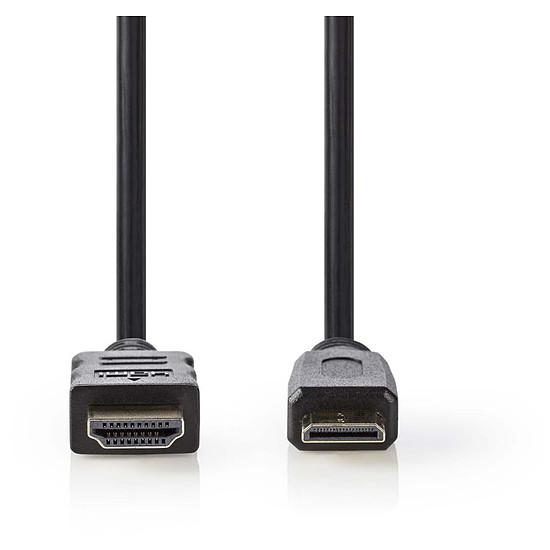 HDMI NEDIS Câble Mini HDMI mâle / HDMI mâle haute vitesse avec Ethernet Noir (2 mètres)
