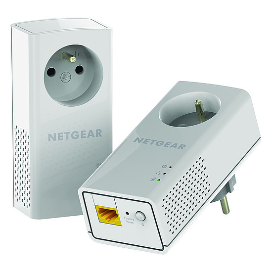 CPL Netgear PLP1200 - Pack de 2 CPL 1200+ (prise intégrée)