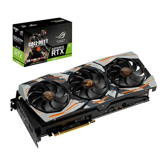 Carte graphique Asus GeForce RTX 2080 Ti STRIX - Edition Limitée Call of Duty Black Ops IIII
