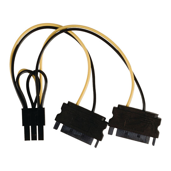 Alimentation NEDIS Adaptateur d'alimentation 2x SATA vers PCI-E 6 Broches