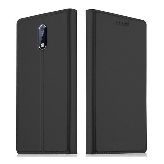 Coque et housse Akashi Etui Folio (noir) - Nokia 7.1