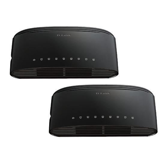 Switch et Commutateur D-Link DES-1008D - Pack de 2