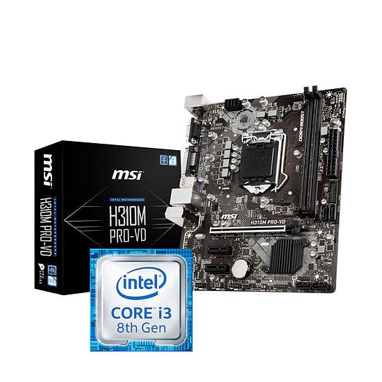 Kit d'évolution PC Intel Core i3-8100 + MSI H310M PRO-VD