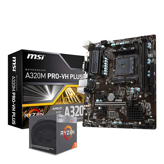 Kit upgrade PC AMD Ryzen 3 2200G + MSI A320M PRO-VH PLUS