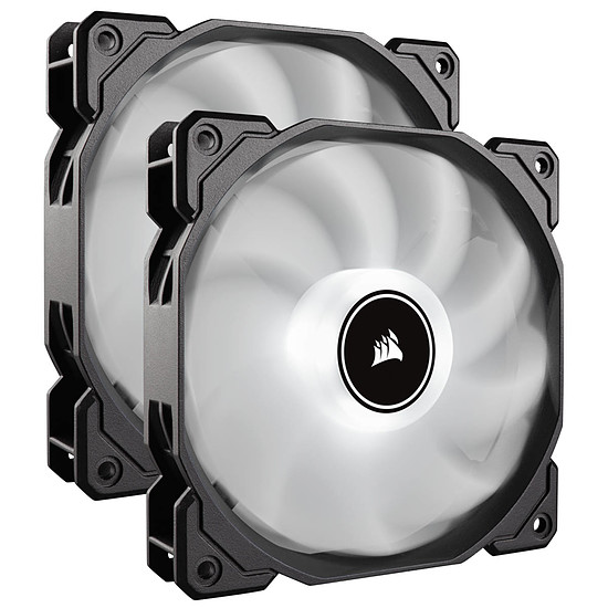 Ventilateur Boîtier Corsair Air Series AF140 Low Noise - Blanc (Pack de 2)