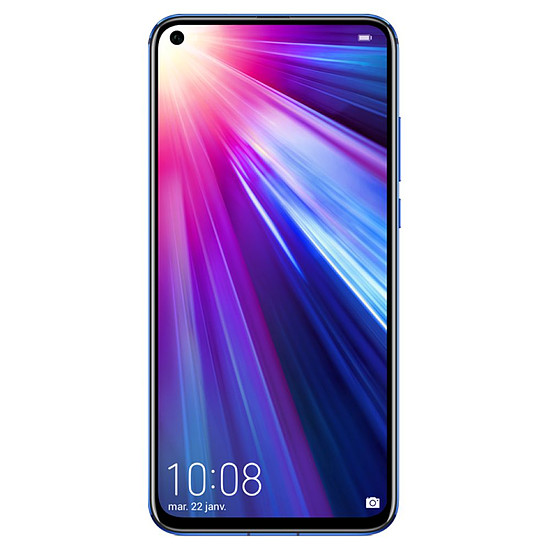 Smartphone et téléphone mobile Honor View 20 (bleu) - 256 Go - 8 Go