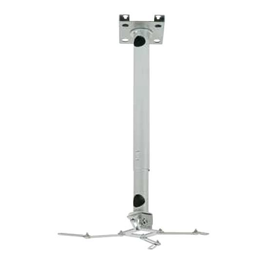 Support vidéoprojecteur Erard Pro Support plafond universel avec rallonge emboitable  et passage de câbles Blanc 717262