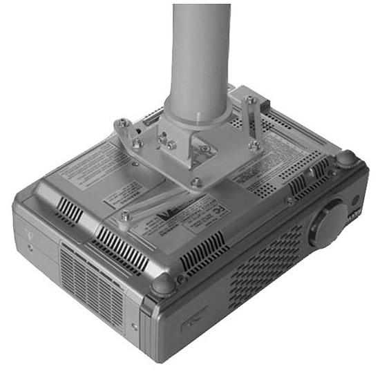 Support vidéoprojecteur Erard Pro Support plafond universel avec rallonge emboitable et passage de câbles Silver 717257 - Autre vue