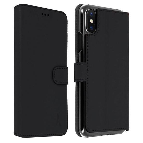 Coque et housse Akashi Etui folio cuir (noir) - iPhone Xs Max