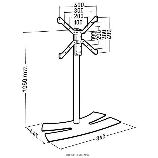 Support TV Erard 1050L noir (038142) - Autre vue