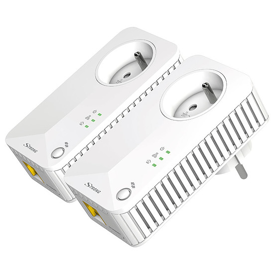 CPL Strong Powerline Kit CPL 500 - Pack de 2 CPL 500 (prise intégrée)