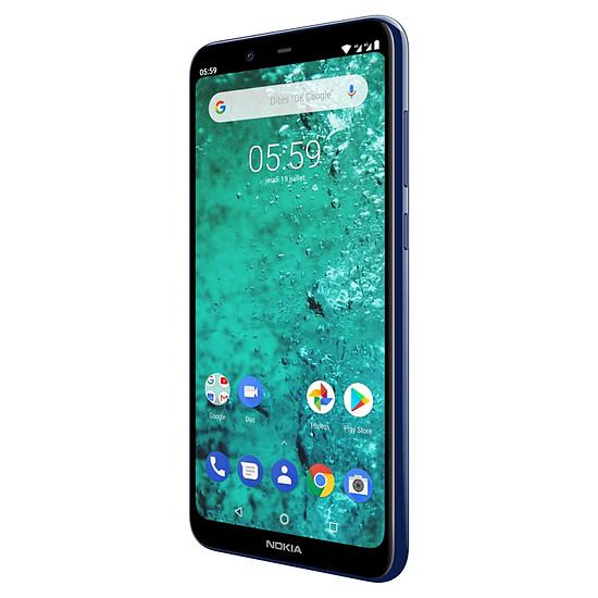 Smartphone et téléphone mobile Nokia 5.1 plus (bleu) - 32 Go - 3 Go - Autre vue