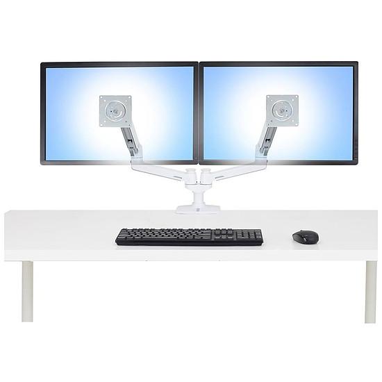 Bras & support écran PC Ergotron LX bi-écran - Autre vue