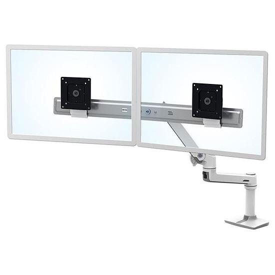 Bras & support écran PC Ergotron  LX Dual Direct Blanc