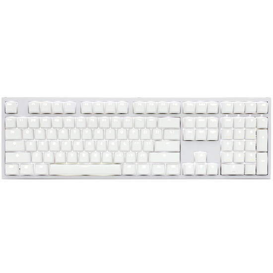 Clavier PC Ducky Channel One 2 - Blanc - Cherry MX Brown