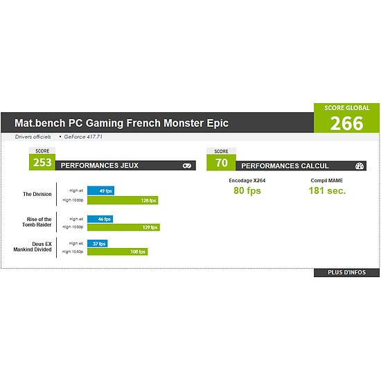 PC de bureau Materiel.net French Monster Epic [ Win10 - PC Gamer ] - Autre vue