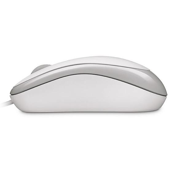 Souris PC Microsoft Basic Optical - Blanc - Autre vue