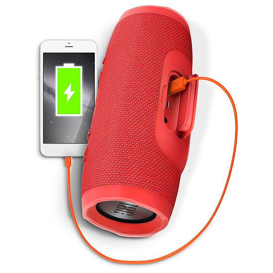 Enceinte sans fil JBL Charge 3 Rouge - Autre vue