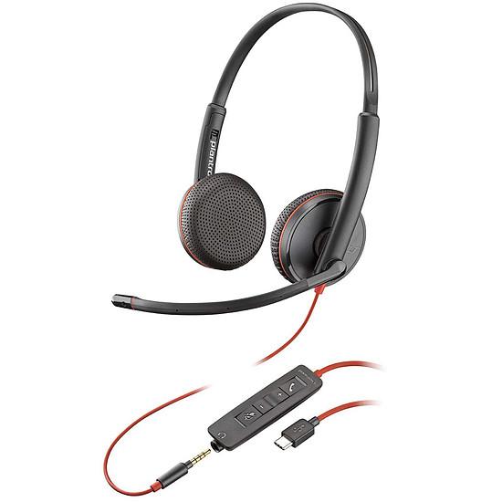Casque micro Plantronics Blackwire C3225 USB-C