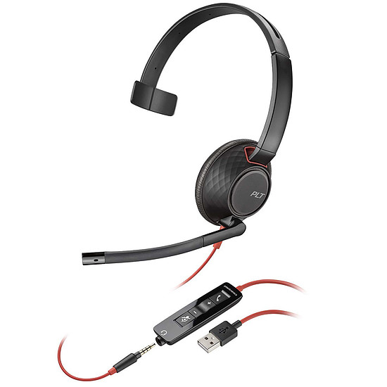Casque micro Plantronics Blackwire C5210 USB-A