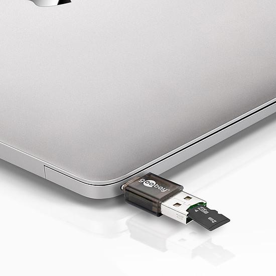 Lecteur de carte mémoire Goobay Lecteur de cartes sur USB-C / USB 2.0 - Autre vue