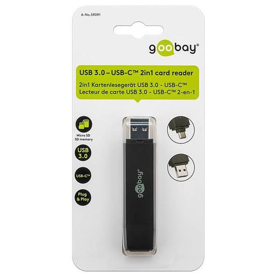 Lecteur de carte mémoire Goobay Lecteur de cartes USB 3.0/USB-C - 2-en-1 - Autre vue