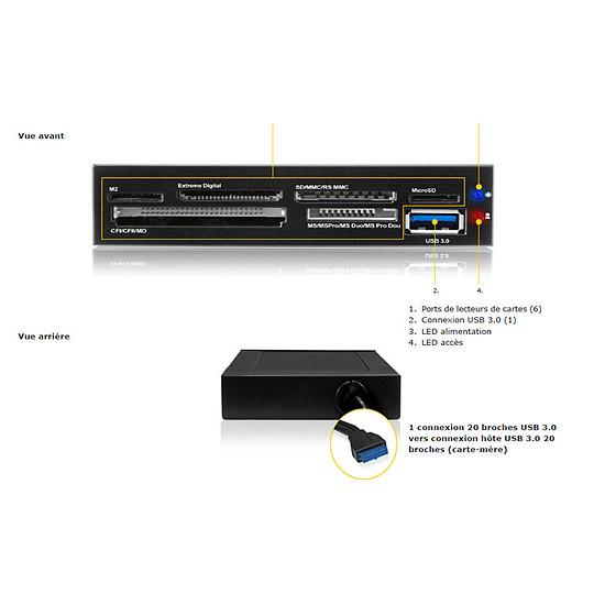 Lecteur de carte mémoire Icy Box Lecteur multicartes / USB 3.0 - IB-865 - Autre vue