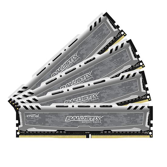 Mémoire Ballistix Sport LT DDR4 4 x 16 Go 2400 MHz CAS 16 DR