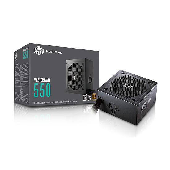 Boîtier PC Cooler Master MasterBox Lite 3.1 TG + MasterLiquid ML120L RGB + MasterWatt 550W + Masterfan Pro 120 AP RGB x2 - Autre vue