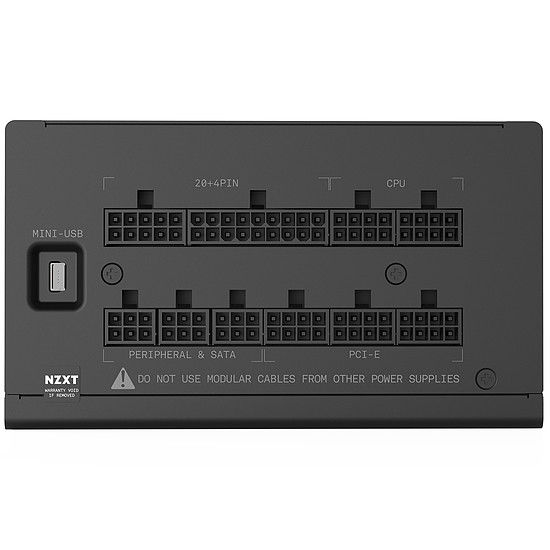Boîtier PC NZXT H700 - Noir + E850 - Autre vue