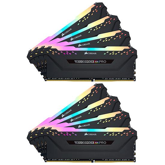 Mémoire Corsair Vengeance RGB Pro DDR4 8 x 8 Go 3000 MHz CAS 15