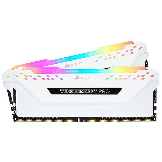 Mémoire Corsair Vengeance RGB PRO DDR4 2 x 8 Go 3200 MHz CAS 16 Blanche