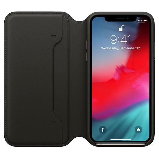 Coque et housse Apple Etui folio cuir (noir) - iPhone XS