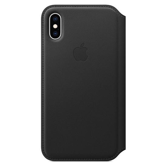 Coque et housse Apple Etui folio cuir (noir) - iPhone XS - Autre vue