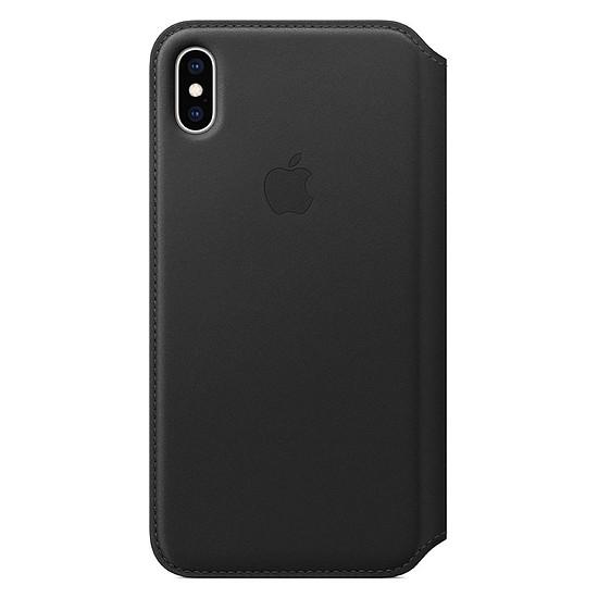Coque et housse Apple Etui folio cuir (noir) - iPhone XS Max - Autre vue
