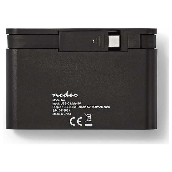 Carte réseau NEDIS TCARF210BK - Adaptateur USB-C vers Gigabit + Hub - Autre vue