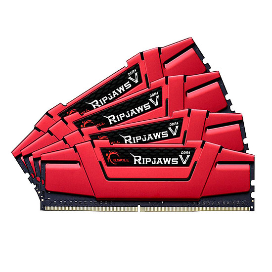Mémoire G.Skill Ripjaws V Red DDR4 4 x 8 Go 2666 MHz CAS 19