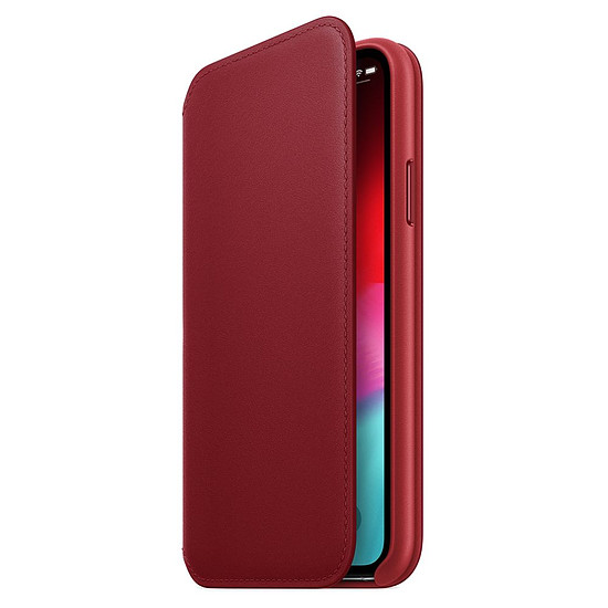 Coque et housse Apple Etui folio cuir (rouge) - iPhone XS