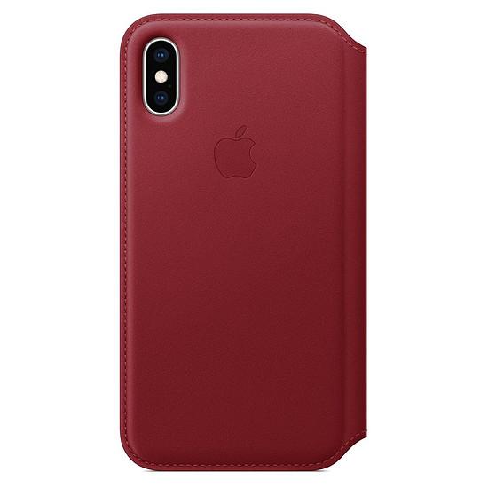 Coque et housse Apple Etui folio cuir (rouge) - iPhone XS - Autre vue