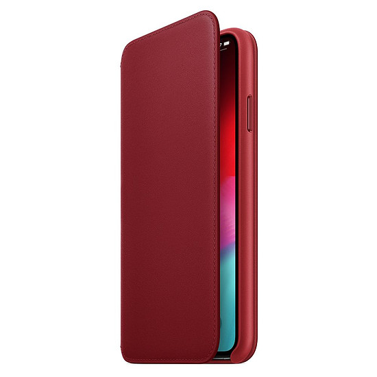 Coque et housse Apple Etui folio cuir (rouge) - iPhone XS Max