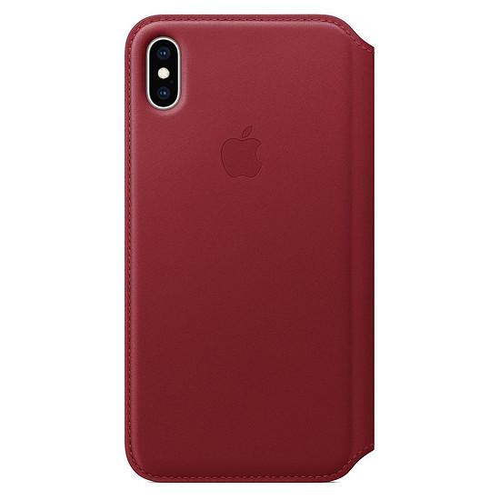 Coque et housse Apple Etui folio cuir (rouge) - iPhone XS Max - Autre vue