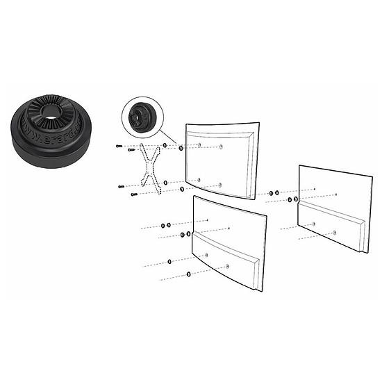 Support TV ERARD Kit TV Adapt+ - Autre vue