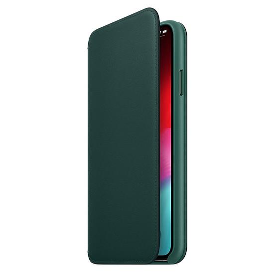 Coque et housse Apple Etui folio cuir (vert) - iPhone XS Max